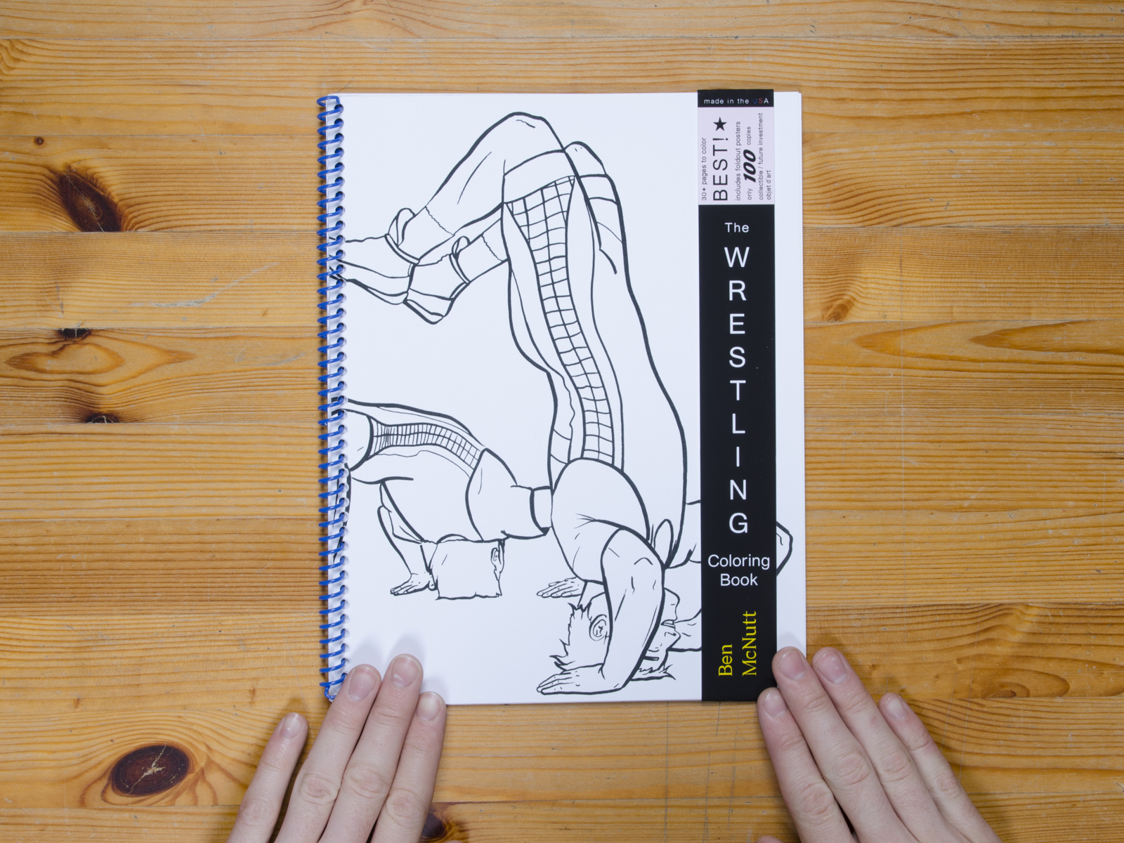 The Wrestling Coloring Book by Ben McNutt | Self Publish, Be Happy